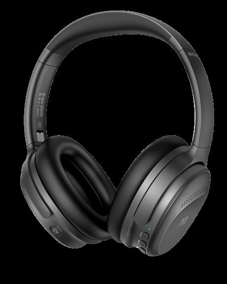 back side view ausounds AU-XT ANC headphones