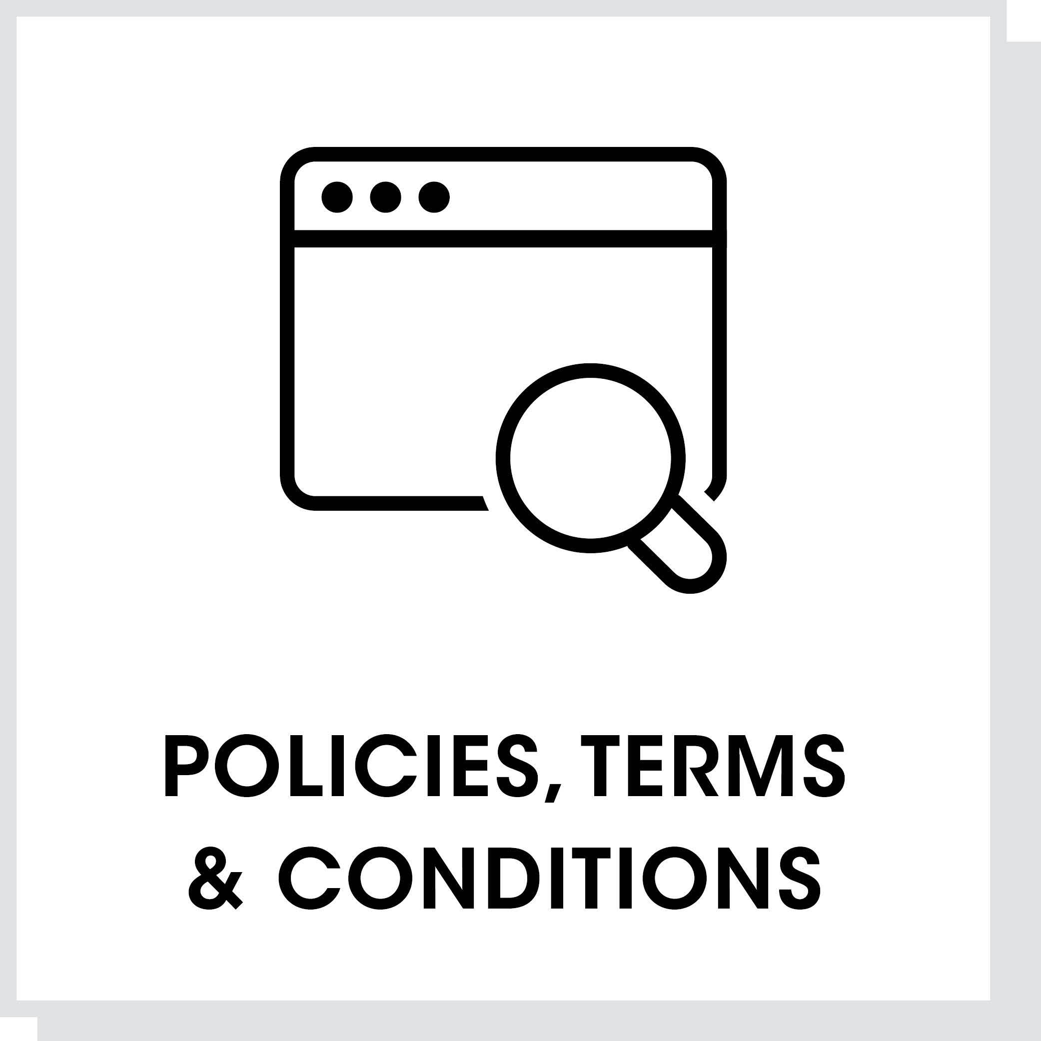 Policies, Terms, & Conditions