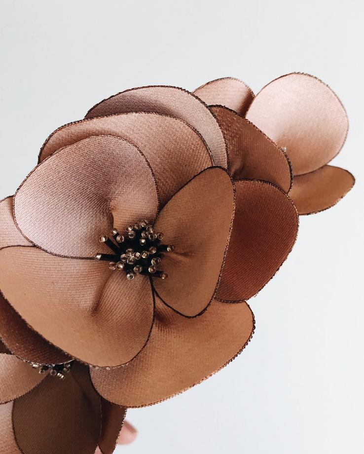 Ободок, медно-кораллового цвета