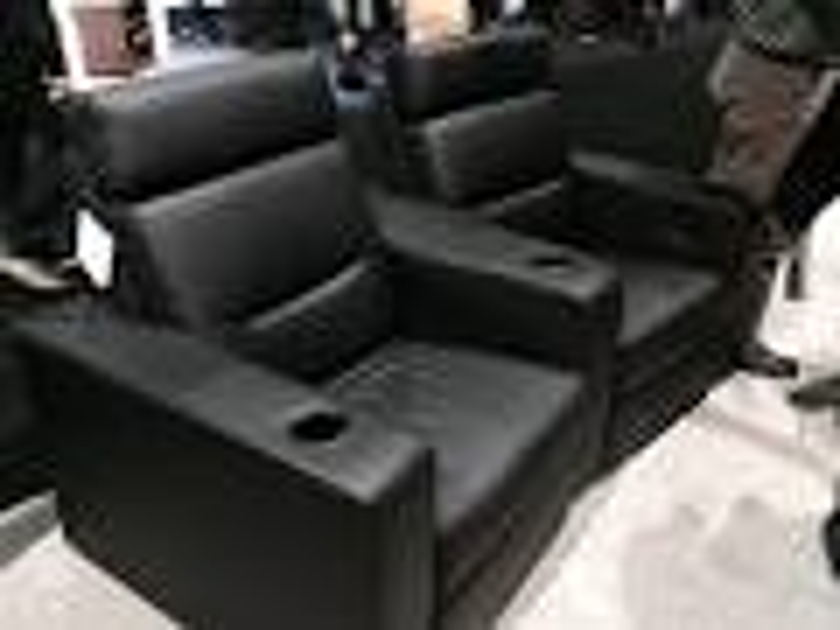 Salamander Designs TC3 Theater Chairs (2) Black Leather Motorized
