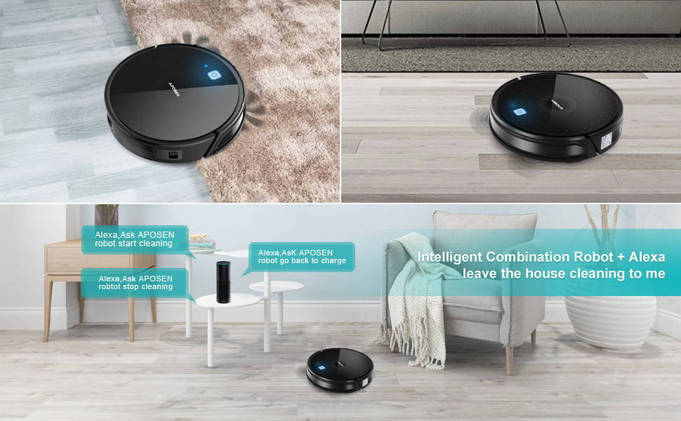 Aposen intelligent combination robor and alexa leave the house cleaning to you