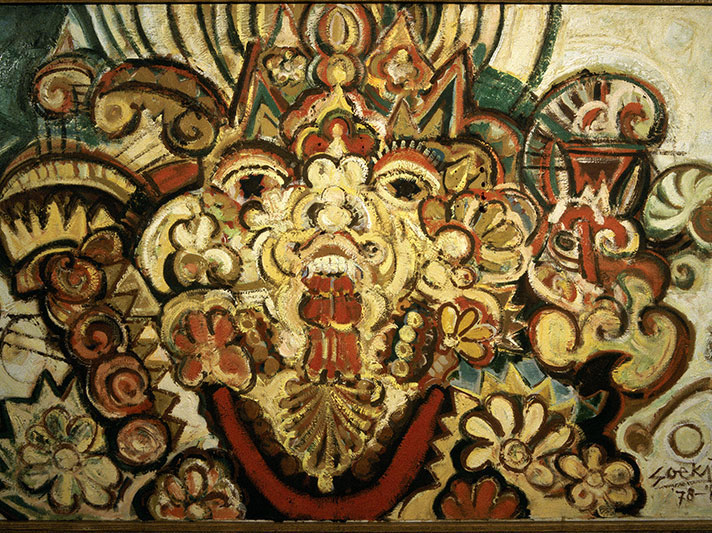Soeki Irodikromo, Untitled, 1986, oil on canvas. © OAS AMA   Art Museum of the Americas Collection. Gift of the Government of Suriname.