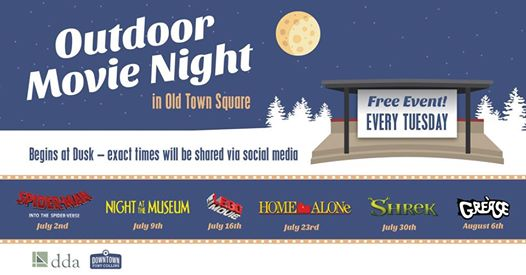 Outdoor Movie Night in Old Town Square | Jul 2 | The New Scene