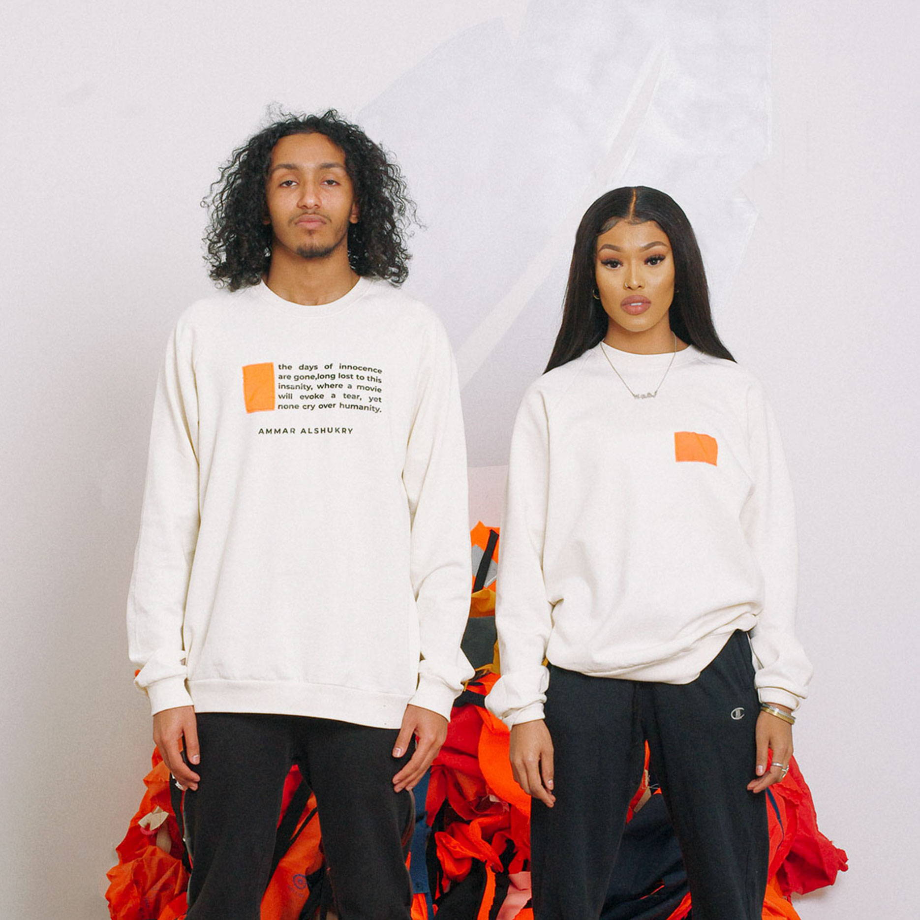 Epimonia Recycled Refugee Life Jacket Sweatshirts