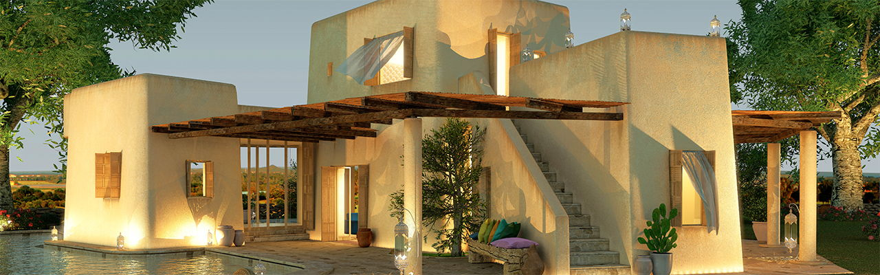 Hamburg - Luxury villa Arenada in the resort Is Molas on Sardinia designed by star architect Massimiliano Fuksas.
