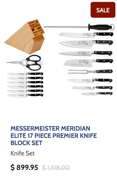 Messermeister Meridian Elite 17 Piece Premier Knife Block Set