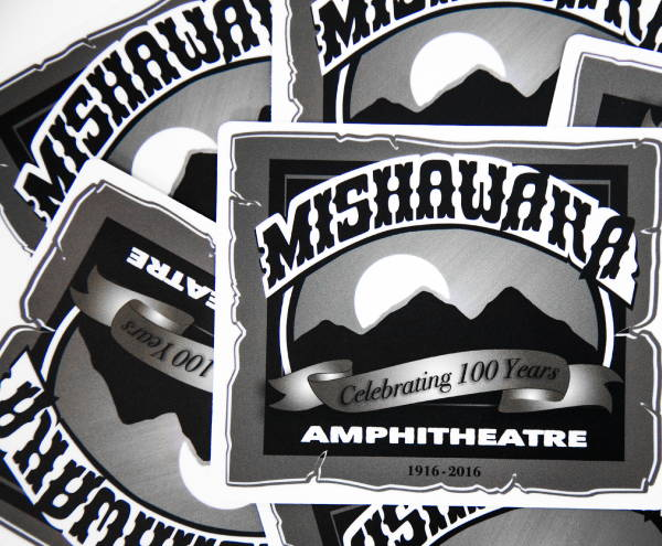 Stickers & Labels - Mishawaha Amphitheatre Stickers