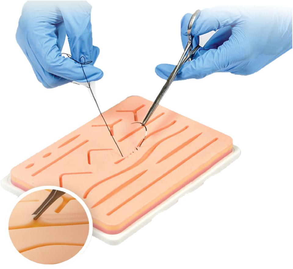 suturing kit with base
