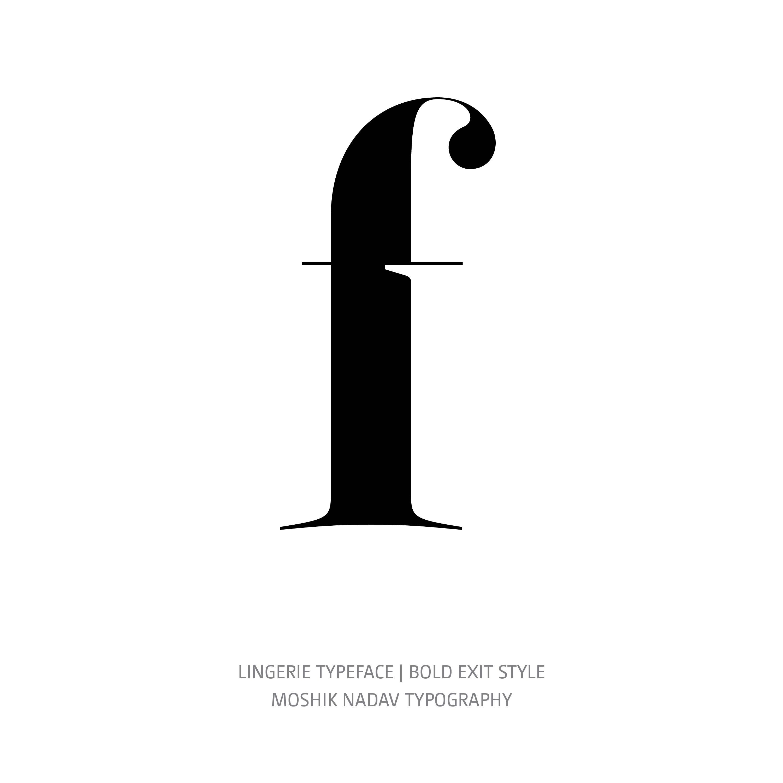 Lingerie Typeface Bold Exit e