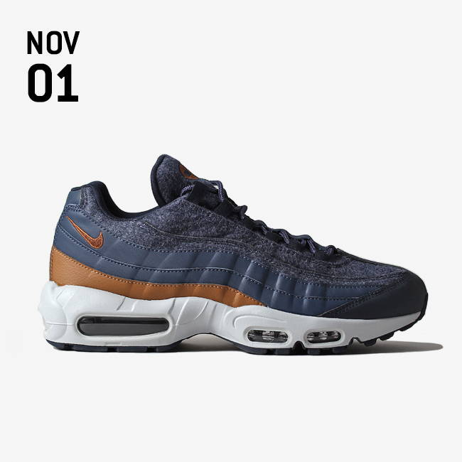 8dca780c8246 NIKE AIR MAX 95 PREMIUM SHOE - THUNDER BLUE ALE BROWN-DARK OBSIDIAN ...