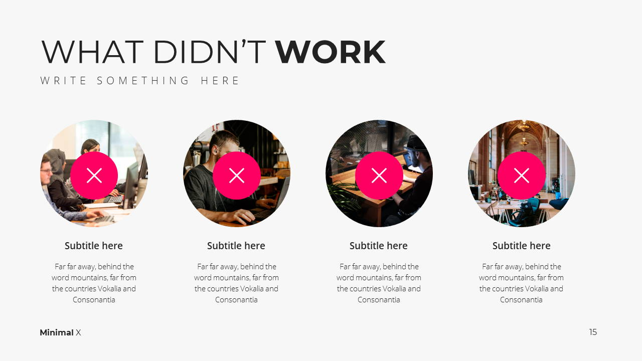 Minimal X Social Media Report Presentation Template What Didn't Work