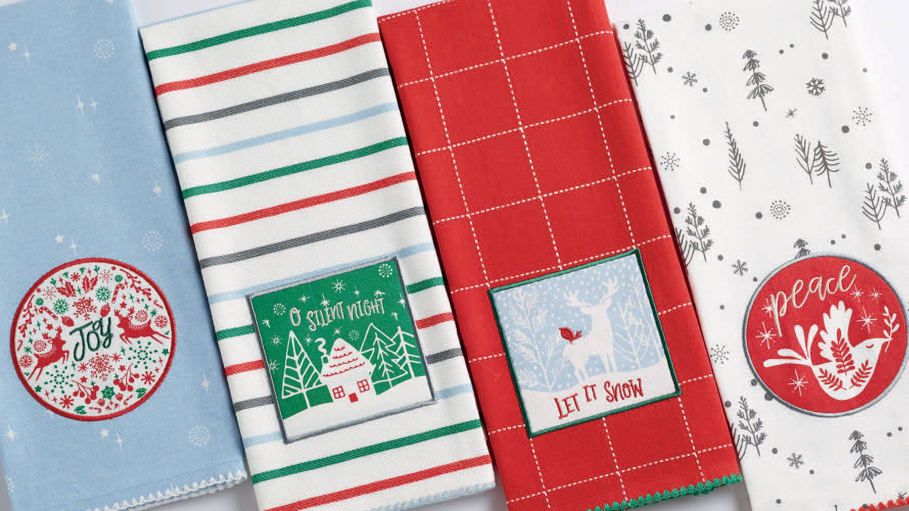 wholesale christmas dishtowels for gift shops