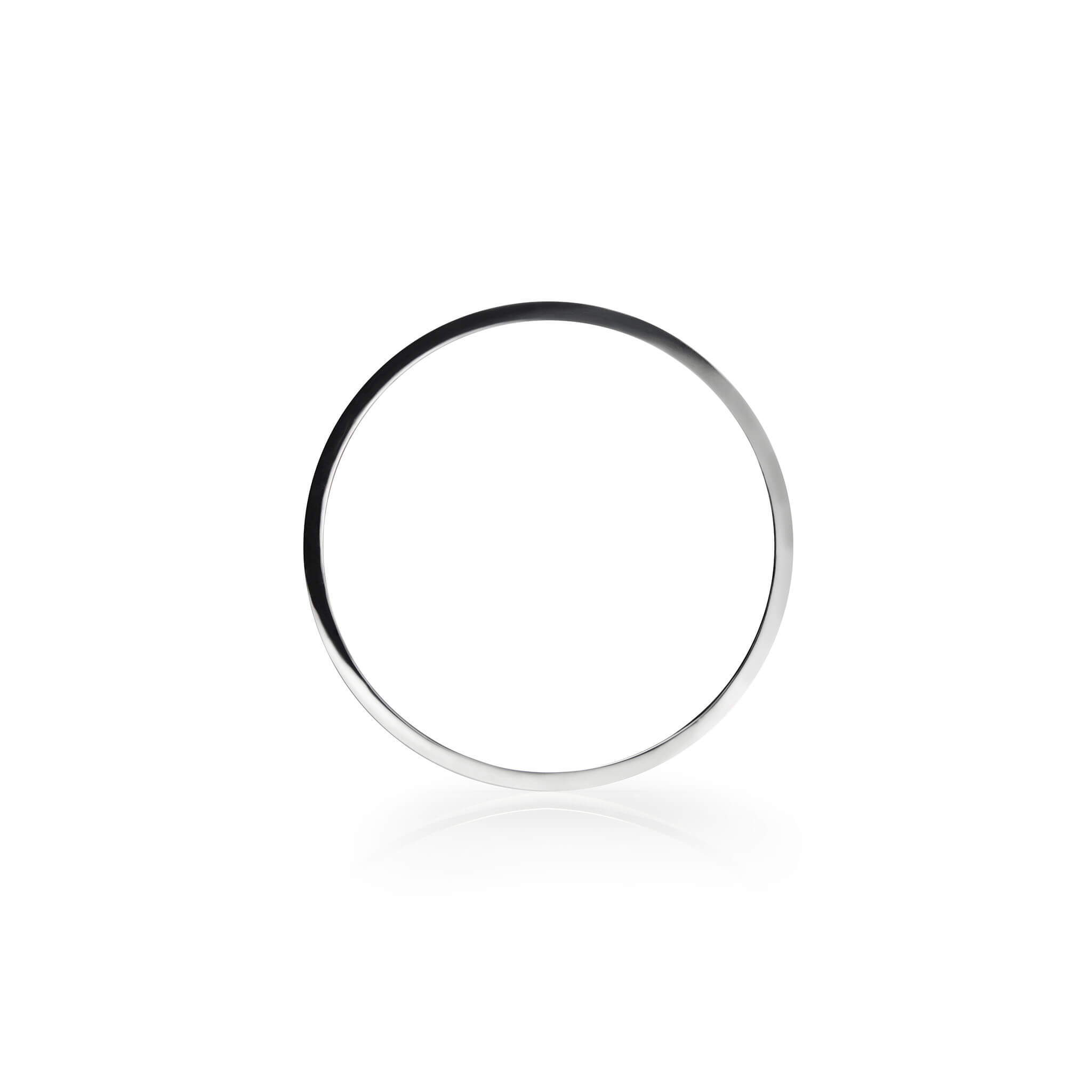Round Bangle in Sterling Silver
