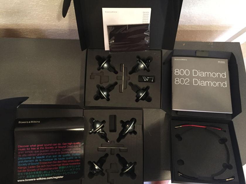 B&W 802 Diamond (D2) Gloss Black Bowers & Wilkins Speakers 802D2
