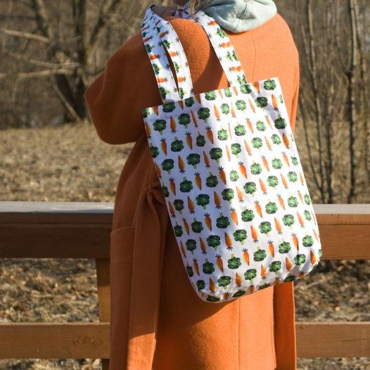 Текстильные сумки авоськи с зажигательнами овощами