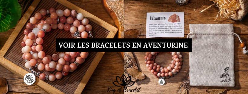 Bracelet Aventurine Rose - King of Bracelet