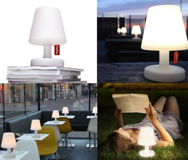Rechargeable Outdoor Table Lamps by Fatboy