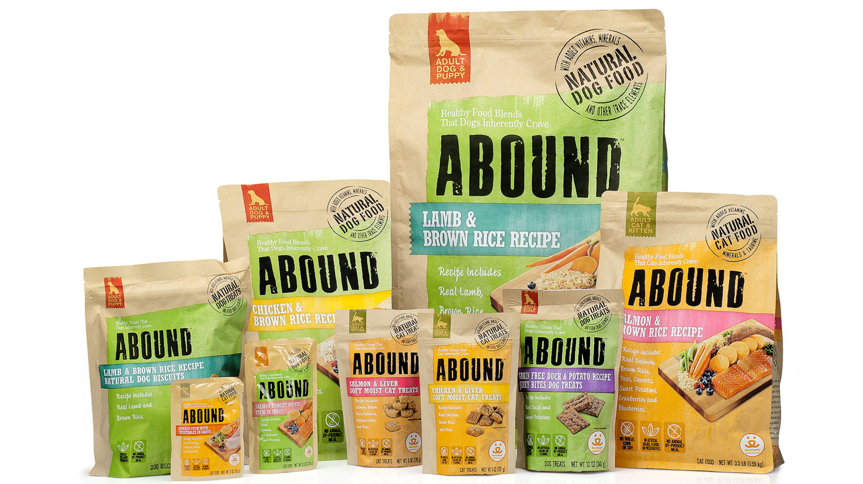 Kroger Abound Pet Foods Dieline