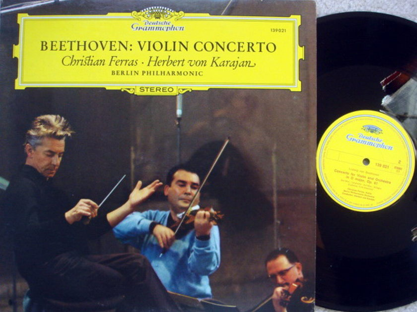 DG / Beethoven Violin Concerto, - FERRAS/KARAJAN/BPO, MINT!