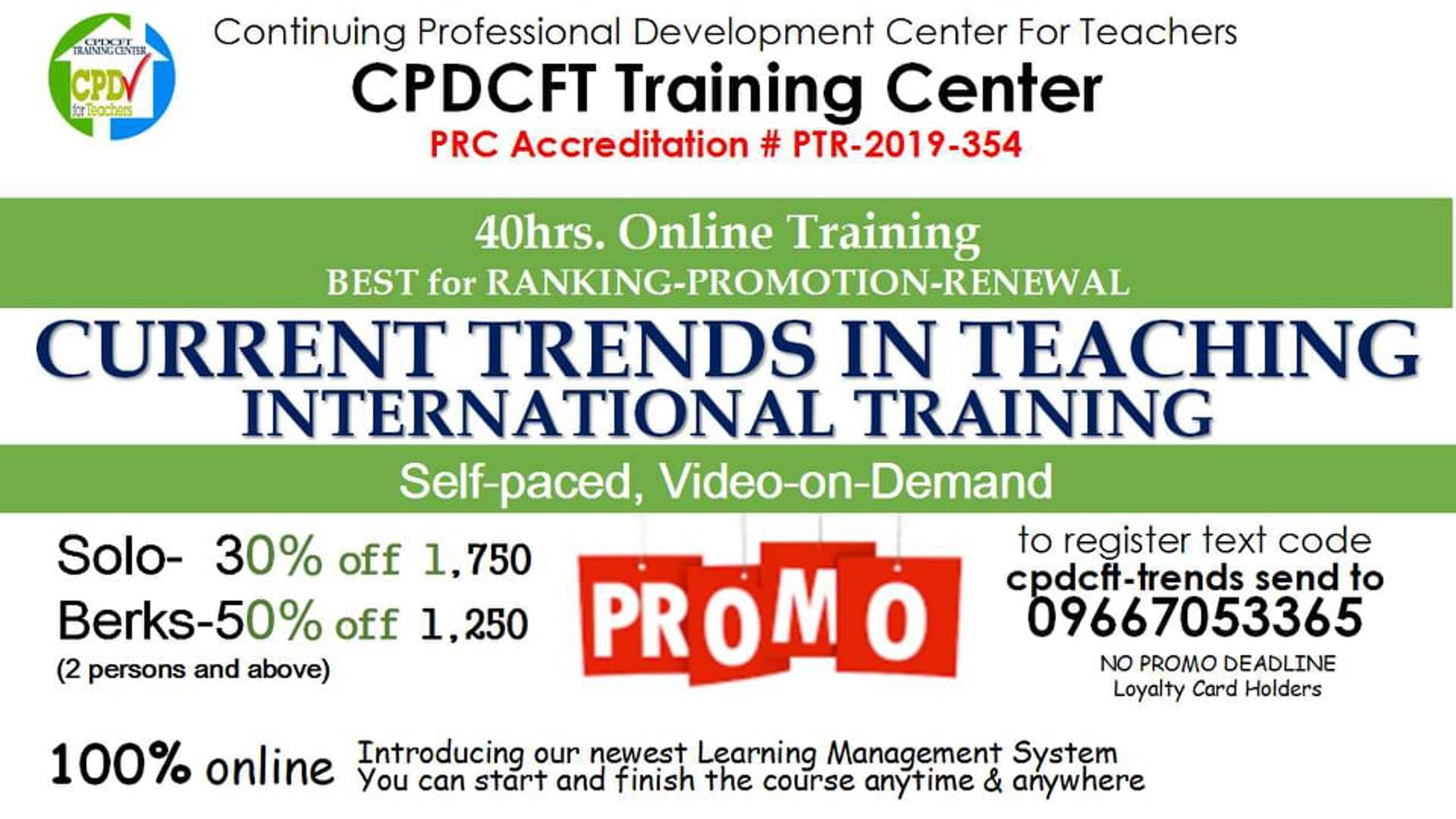 Current Trends in Teaching International Training