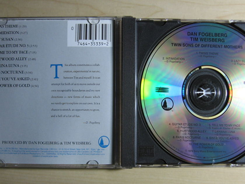 Dan Fogelberg & Tim Weisberg - Twin Sons Of Different Mothers - Compact Disc / CD  Epic EK 35339