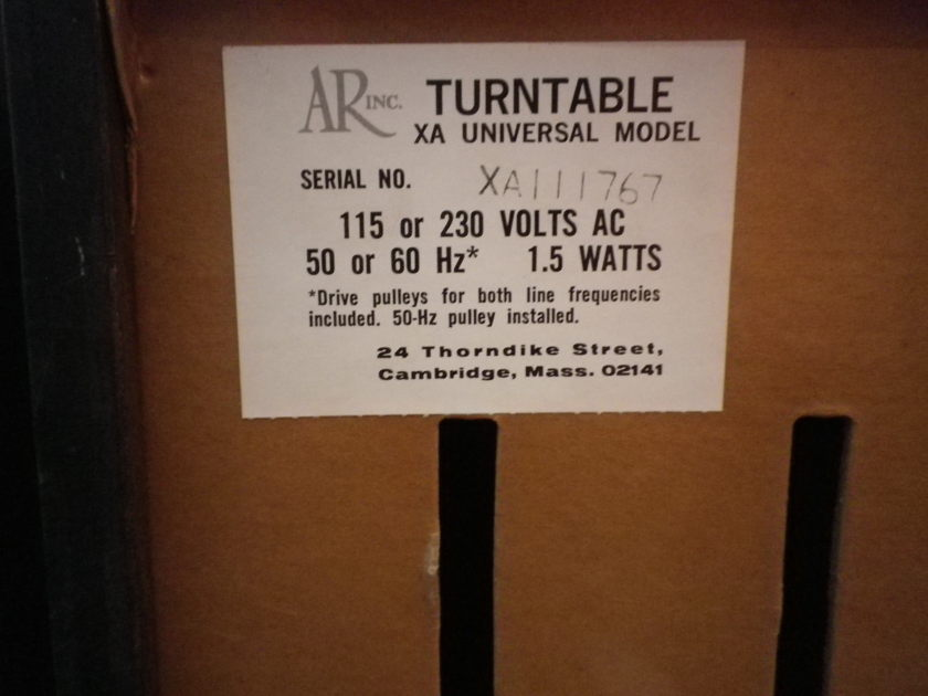 Acoustic Research, Ar XAU universal model, with cartridg