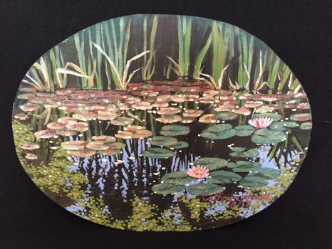 "Cathryn Powell Fine Art "" Lily Pond at the High Sierra Iris Garden"""