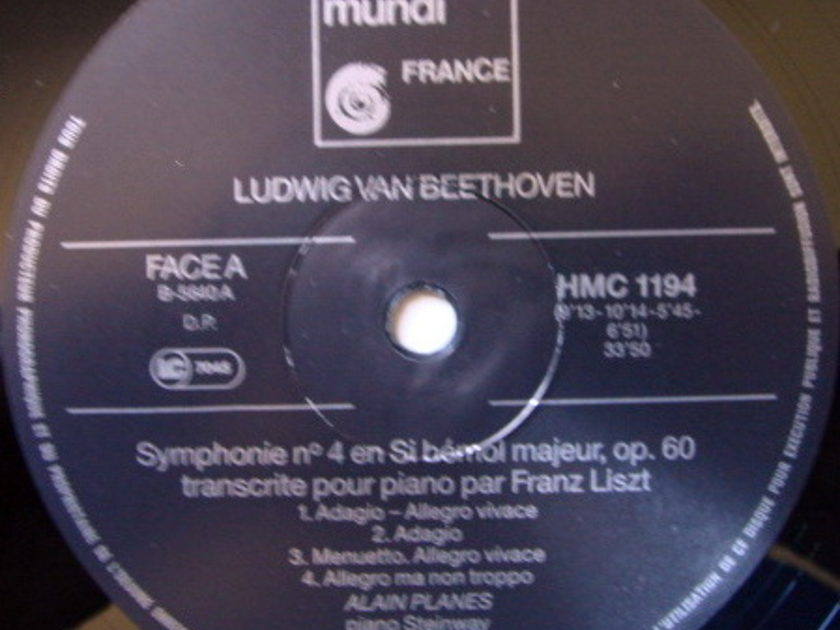 ★Audiophile★ Harmonia Mundi / PLANES, - Beethoven Symphonies No.4 & 8 (Piano Version), NM!