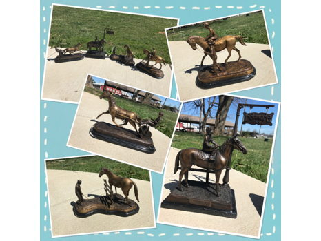 Delaware Park Bronze Equestrian Statues (4 in total)