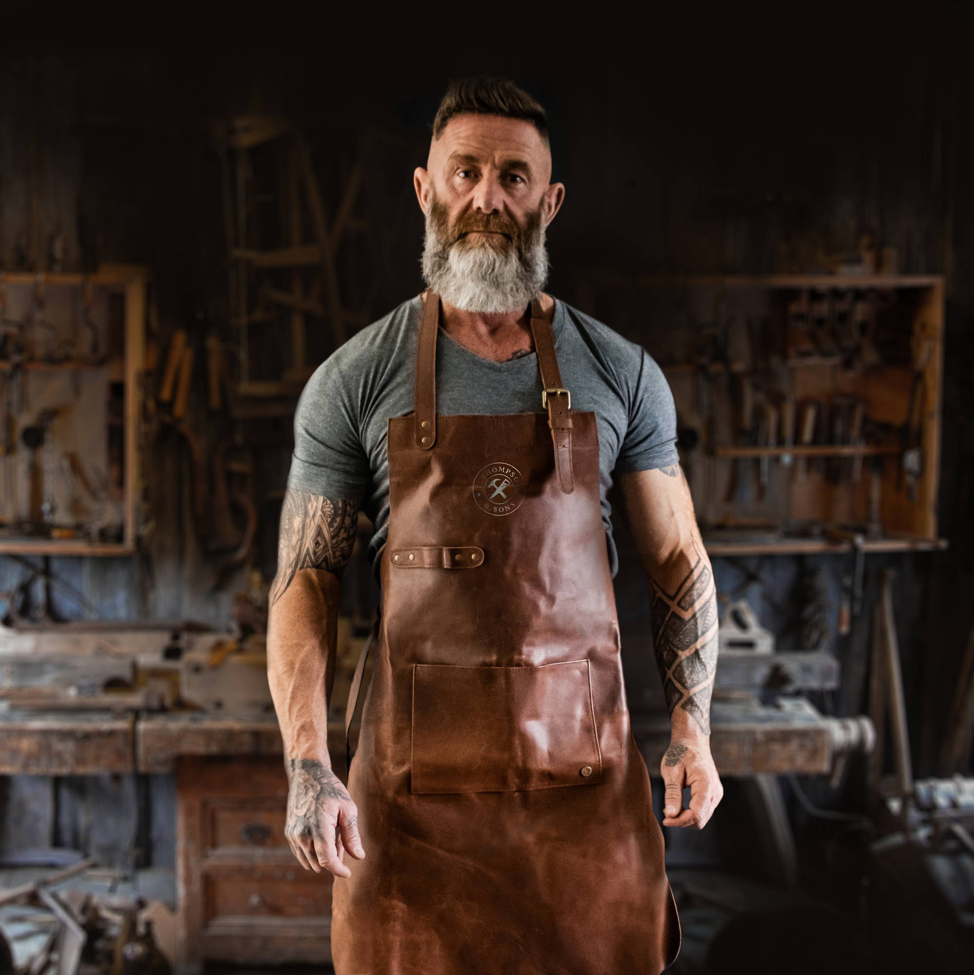 Branded Leather Aprons