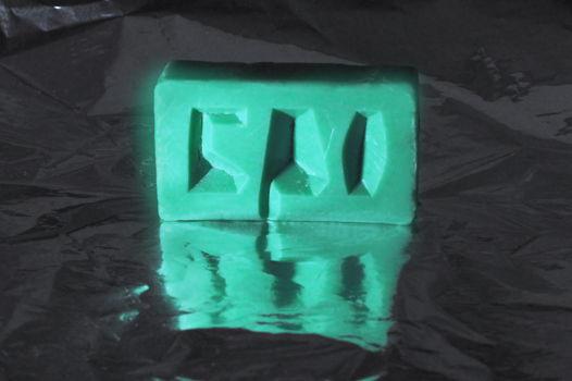 Мыло с надписью БРО