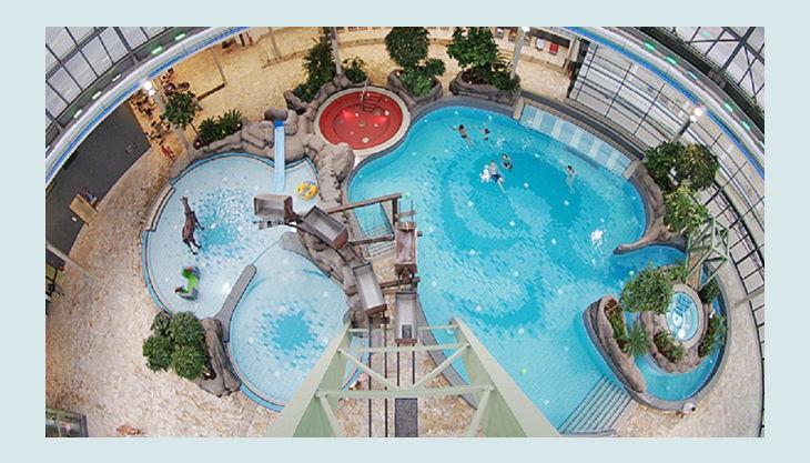 aquapark oberhausen die wasserlandschaft von oben