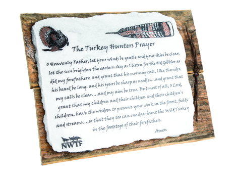 Turkey Hunter's Prayer Plaque