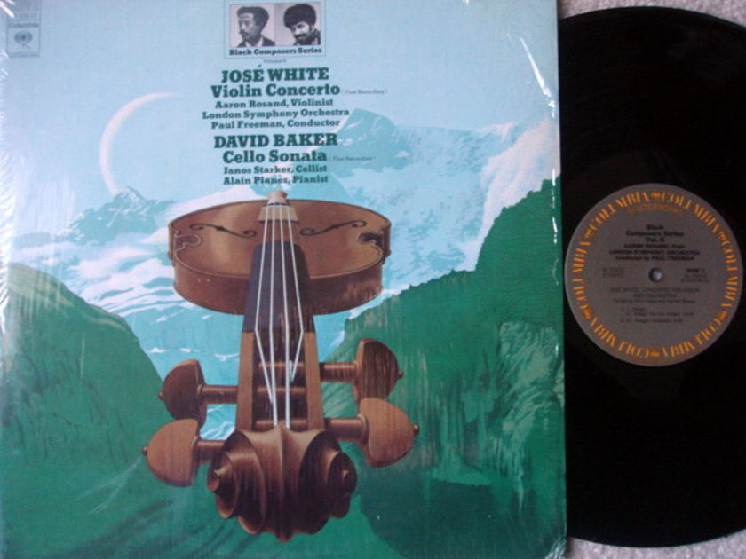 Columbia / ROSAND-STARKER, - White Violin Concerto, Baker Cello Sonata NM!