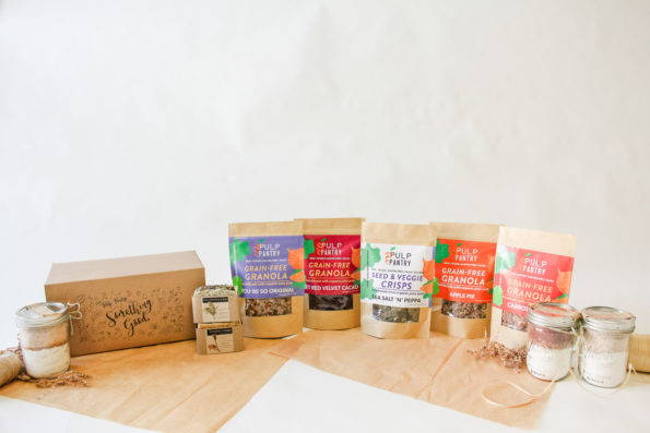 Pulp Pantry Grain-Free, Paleo, Raw, Gluten-free, Organic, Local, Plant-based, dairy-free, refined-sugar free granola, sustainable suds, and baking mixes