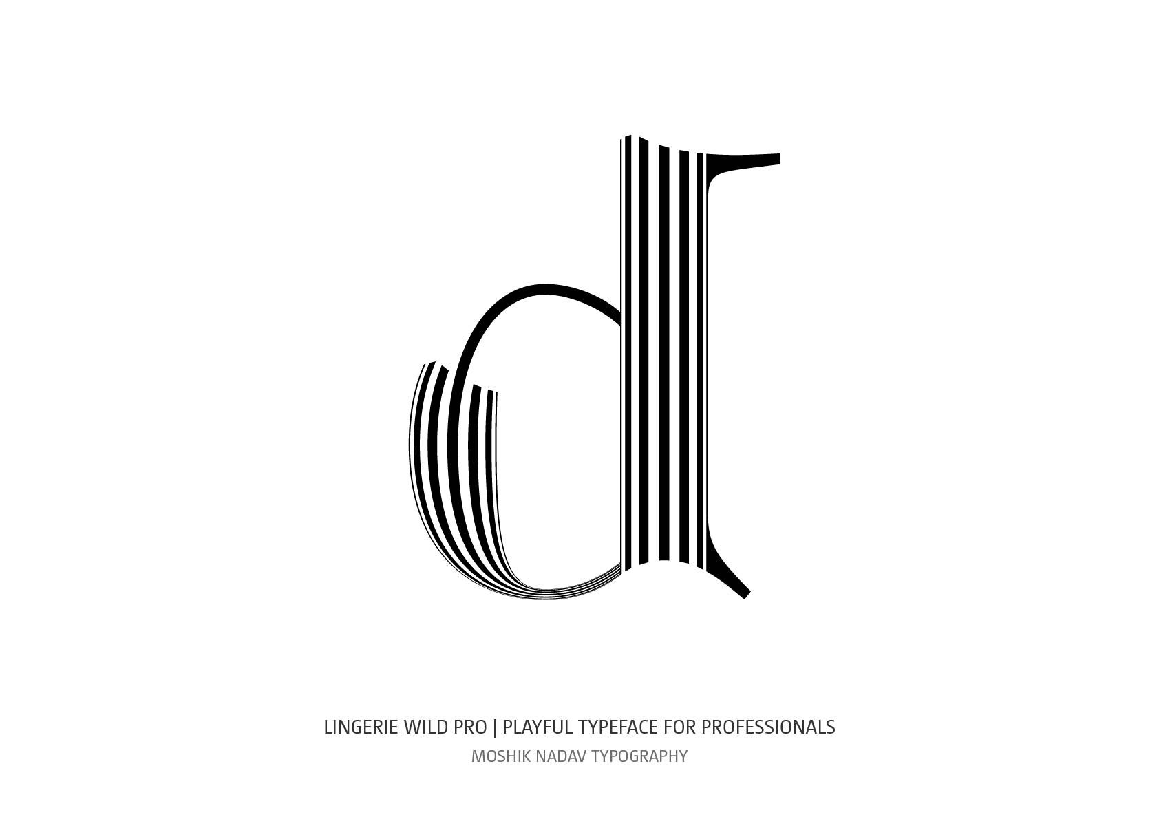 uniqe lowercase d for fashion and luxury brands by Moshik Nadav custom type design NYC