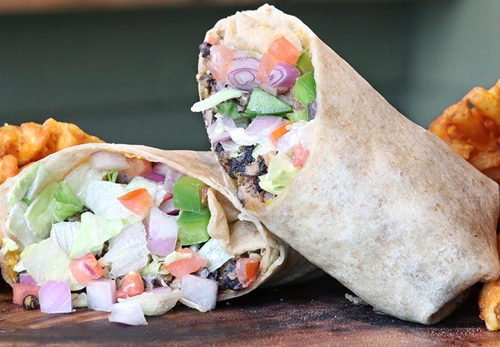 Garden-Fresh Black Bean Wrap
