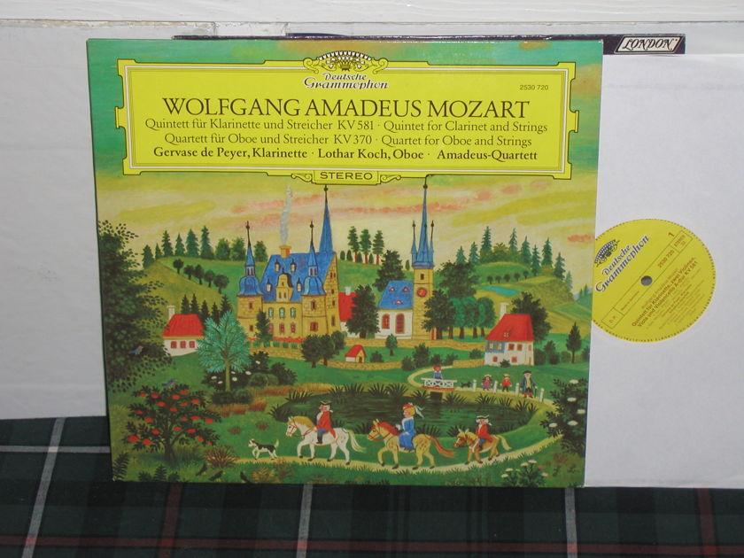 Amadeus Quartet - Mozart Quintet DG German import  press