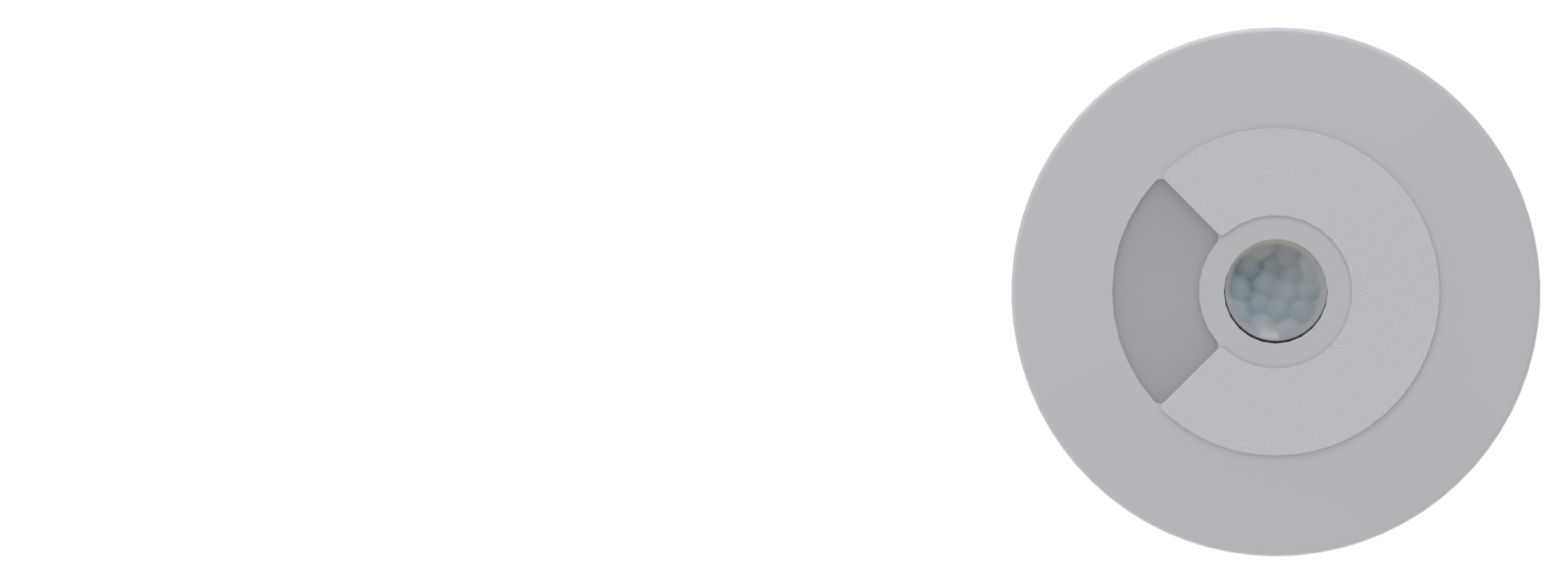 Faradite 0-10-V-Bewegungsmelder und Helligkeitssensor Vorderseite