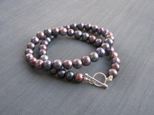 """Жемчужные бусы """"Perfect black pearls"""""""