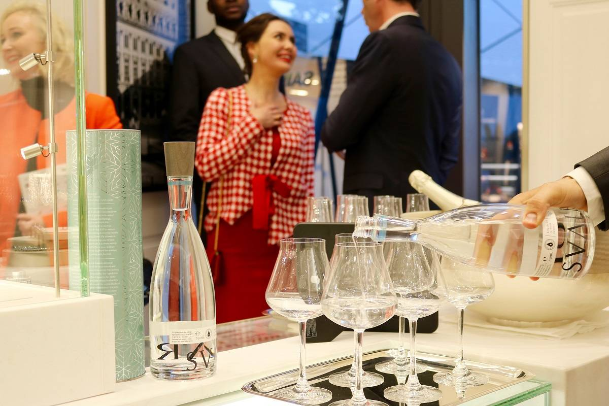 Svalbardi being poured into elegant glassware at Boucheron event