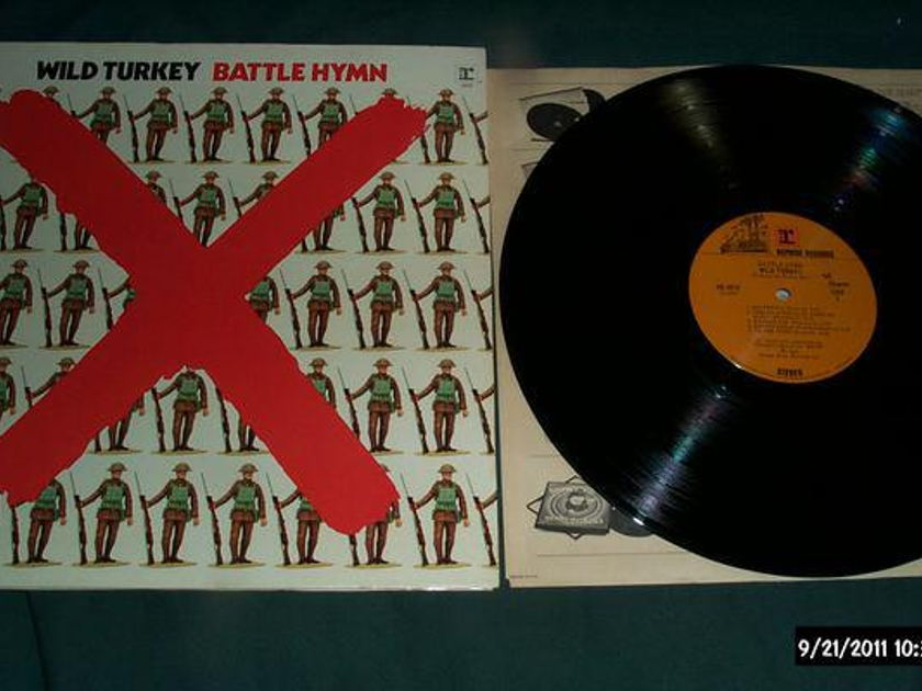 Wild Turkey - Battle Hymn ex-jethro tull lp nm