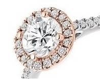 bespoke diamond engagement rings two colour halo - Pobjoy Diamonds