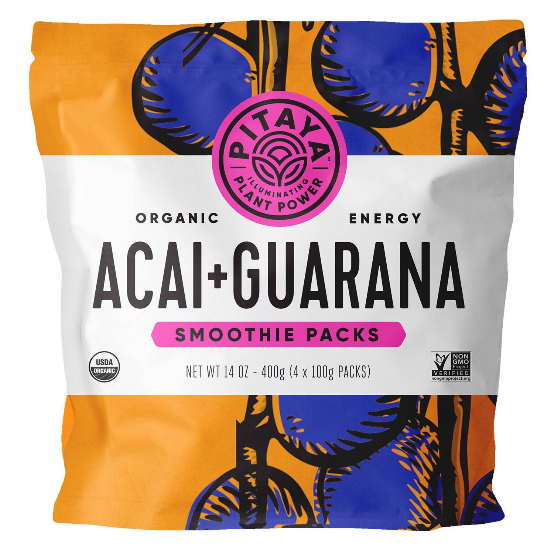 Pitaya Organic Acai+Guarana Smoothie Packs
