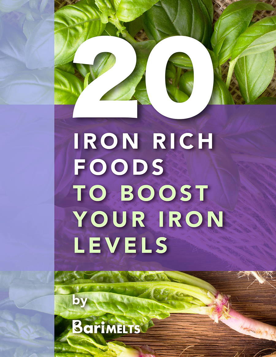 20 iron rich foods to boost your iron levels ebook front cover