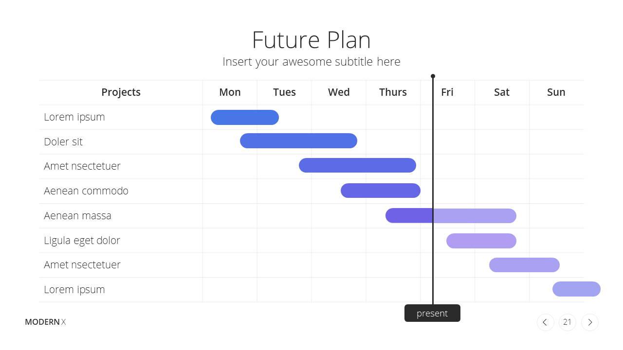 Modern X  Company Profile Presentation Template Future Plans
