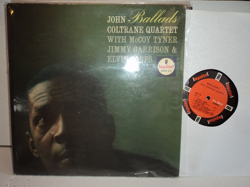 John Coltrane Quartet  - Ballads  1962 Impulse A-32 1st stereo press