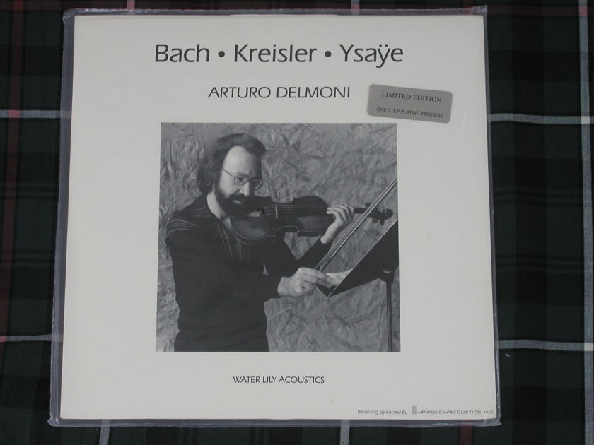 Arturo Delmoni Bach-Kriesler- - Ysaye STILL SEALED on Water Lily WLA-WS-07 1-Step copy
