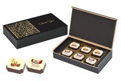Marriage Return Gift Ideas - 6 Chocolate Box - Printed Candies (10 Boxes)