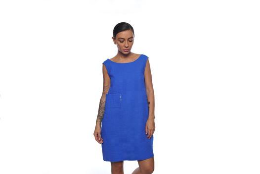 Платье-майка из вафли с открытой спиной